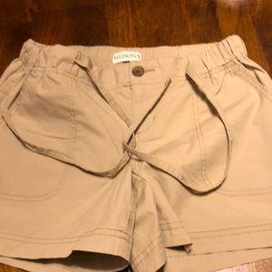 Merona lightweight khaki drawstring shorts XS